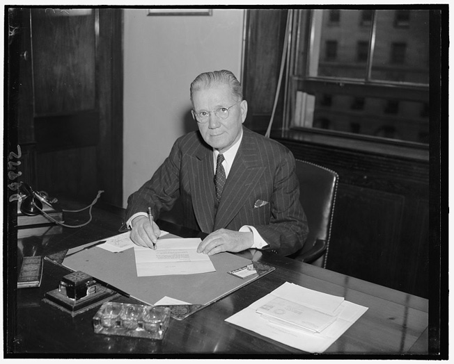 Rep. John H. Tolan (D., Cal.) chairman of House Select Committee Investigating National Defense Migration.