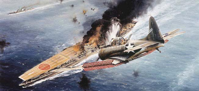During The Battle Of Midway Four Anese Aircraft Carriers Were Destroyed By American Planes Shifting