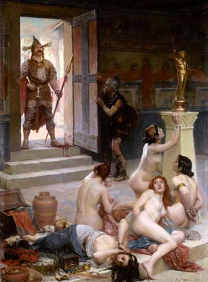 During the Battle of Allia, 'mere barbarians' defeated the elite Roman army when the Gauls sacked Rome.