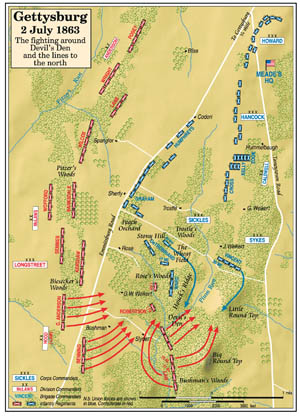 Devils Den Arkansas Map.Battle Of Gettysburg Devil S Den Battlefield