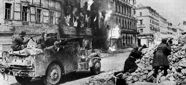 In spite of a tenacious defense, the Soviet Red Army overwhelmed the Germans in the Austrian capital of Vienna.