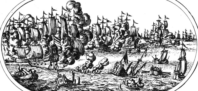 During the Eighty Years' War, the Battle of the Downs would come to mark a crushing defeat of the Spanish.
