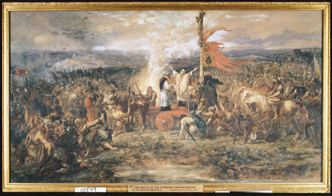 The Scots rely on a crushing charge during The Battle of the Standard that pit the scots against the English.