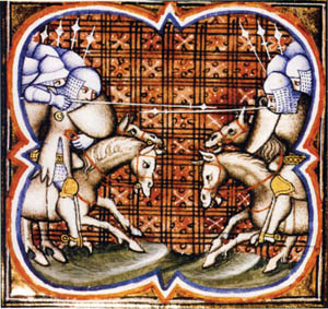 Simon de Montfort's crusaders won a decisive victory over King Peter of Aragon's army at the battle of Muret in 1213. The open field battle between roughly equal forces was clear evidence of Simon's skill as a medieval commander.
