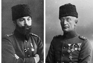 Djemal Pasha (left) and German General von Kressenstein
