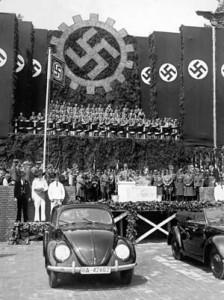 The much-loved Volkswagen was the brainchild of two designers, Ferdinand Porsche and Adolf Hitler.