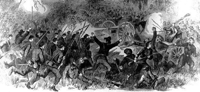 Hawkeyes and Badgers surprised even themselves in a mad rush on the last Rebel stronghold before Vicksburg.