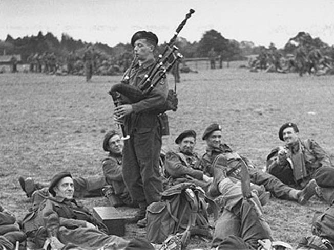 Bill Millin Played the Bagpipes during the Landing on D-Day.