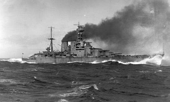 The battlecruisers built  by the British Royal Navy prior to World War I sacrificed armor protection for speed. It was this tradeoff that proved fatal to the great Hood, pictured here, in its brief battle with Bismarck and in May 1941.