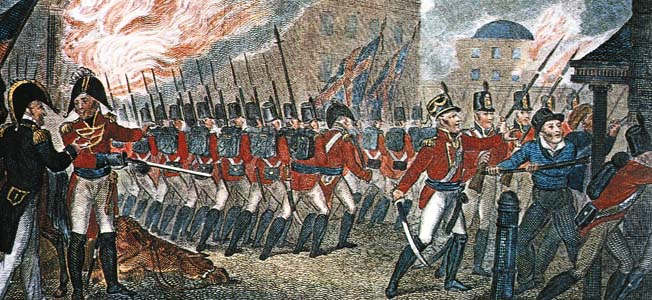In reality, Bladensburg was a trio of seperate battles-involving the first, second and third American lines, each out of any real contact with the others, and all of them out of touch with the reserves in the rear. Each fought the British in their own, separate, uncoordinated fight.