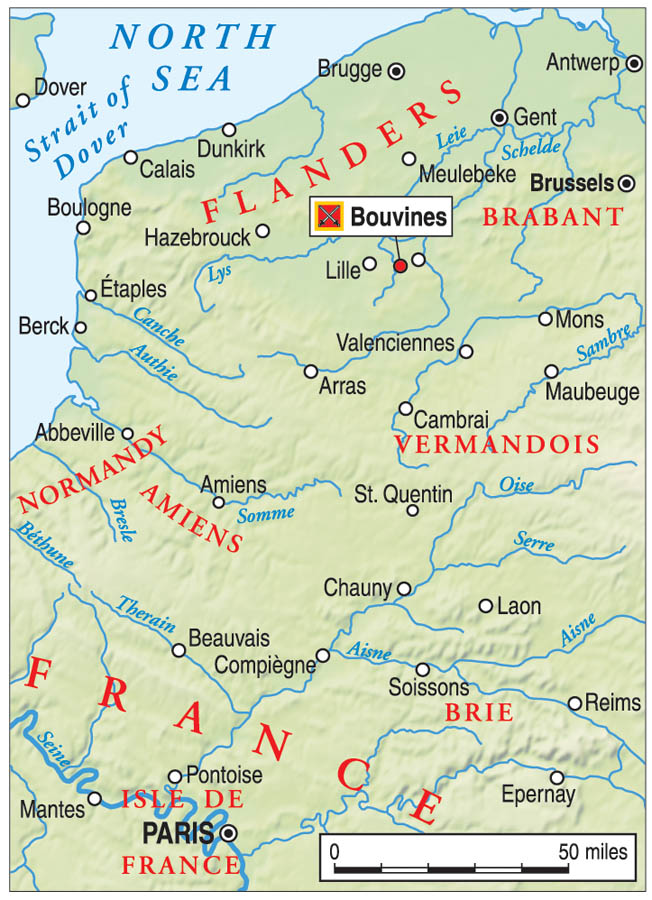 A coalition bent on destroying France's Philip II invaded Flanders in July 1214. Marching along were French barons with a score to settle.