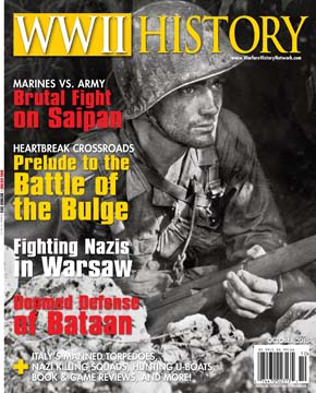 The October 2015 issue of WWII History Magazine.