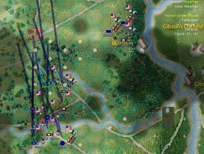 As a turn-based strategy game, Matrix's Brother Against Brother: The Drawing of the Sword attempts to simulate the Civil War at the regimental level.