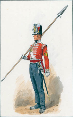 This British sergeant with a spontoon would have been a familiar sight during the Napoleonic age.