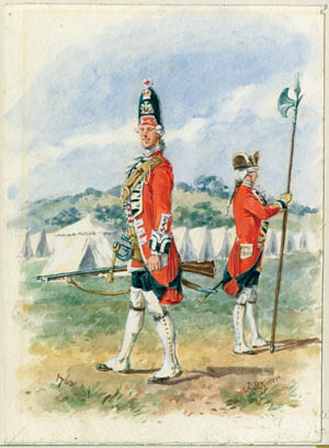 British sergeants used the versatile halberd to straighten their formations, set distances between the ranks, and prod men into line.