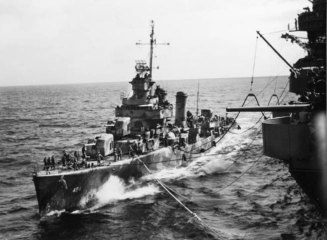 The destroyer USS Buchanan steamed in formation as Task Force 64 got the drop on the Japanese and unleashed a stream of deadly gunfire during the Battle of Cape Esperance. The destroyer was one of five of the Navy's workhorses that participated in the battle.