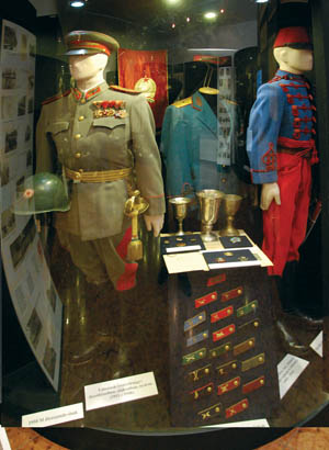 The post-World War II exhibit houses numerous Warsaw Pact items, including uniforms of the Hungarian Army during the Cold War.