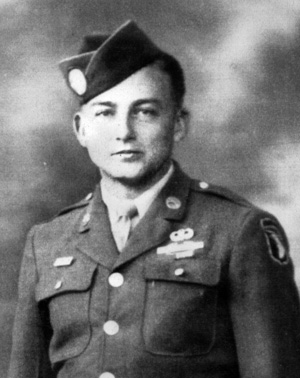 Howard Buford, photographed in uniform during the war.