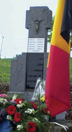 This monument at Wereth honors the memory of 11 African American soldiers murdered by the SS.