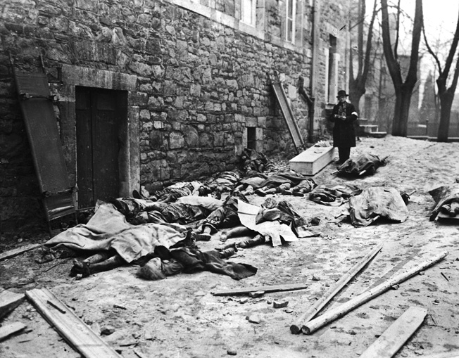 Belgian civilians who were unfortunate to be in the path of advancing SS units also were gunned down.