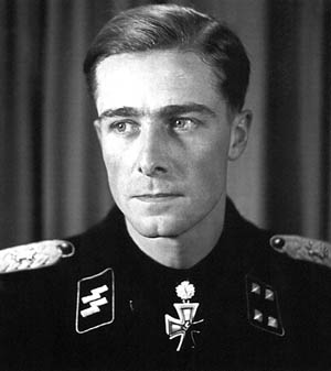 SS Colonel Joachim Peiper, infamous commander of Kampfgruppe Peiper, accused of committing atrocities.