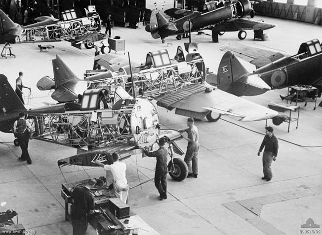 The Commonwealth Aircraft Corporation established an aircraft factory at Fishermens Bend near Melbourne, Australia, in 1937 to produce the Wirraway.