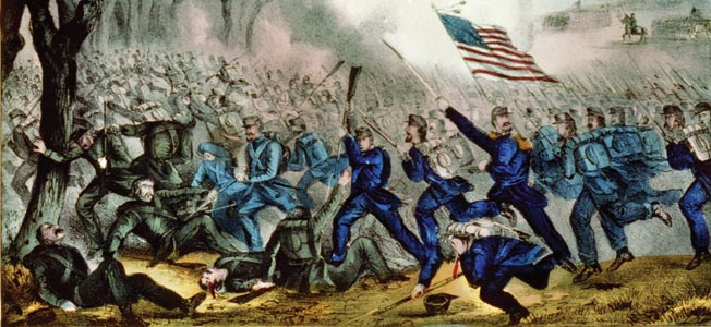 Union troops drive off the Confederates at Mill Springs. McCook's brigade, including the 9th Ohio and 2nd Minnesota, suffered 55 casualties in the victory.