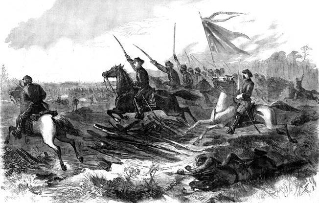 Union cavalry under Brig. Gen. Judson Kilpatrick drive away Maj. Gen. Joseph Wheeler's harassing Confederates at Waynesville, Georgia, on December 2, 1864.