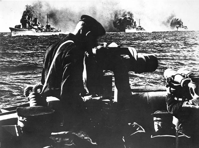 U.S. cruisers and destroyers defeated a Japanese naval contingent off Cape Esperance during the Guadalcanal campaign.