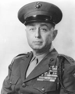 Major General Clifton B. Cates, commander of the 4th Marine Division.