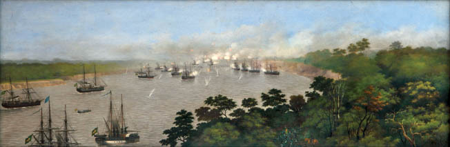 At the Battle of Curupaity, on September 22, 1866, the Brazilian navy shelled Paraguayan trenches to little effect. Allied losses were nearly 1,000 men.