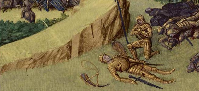 During the Battle of Roncesvalles, Charlemagne's Franks were frustrated at their inability to punish the Basques for robbing their baggage train.