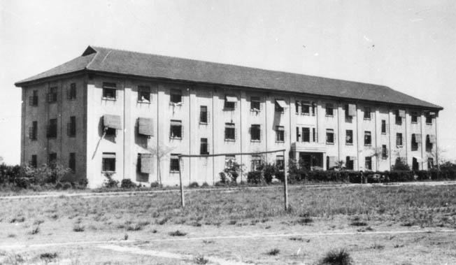 The Borsberry family was incarcerated by the Japanese in this college dormitory at the Lungwha Civil Assembly Centre in China.