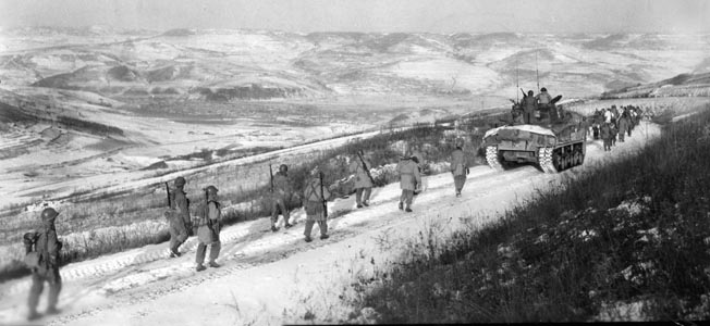 A U.S. combat team fought against overwhelming odds in late November 1950 at the Chosin Reservoir. It bought precious time for other units.