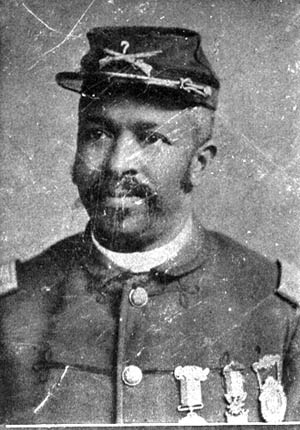 Medal of Honor recipient 6th USCT; and Sgt. Maj. Christian Fleetwood, 4th USCT.