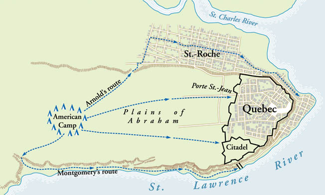On the snow-blasted Plains of Abraham, American forces prepared to launch an attack on the English citadel at Quebec. It was a recipe for disaster.