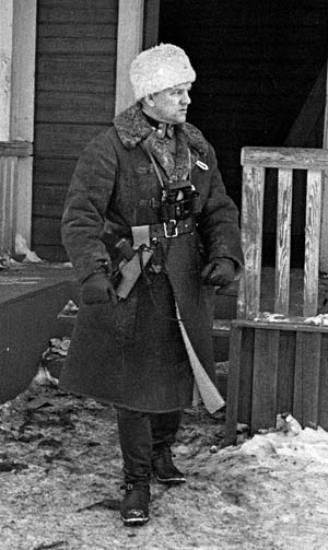 Lieutenant Colonel Aaro Pajari commanded the Finnish Army Regiment JR-16 during the bitter fighting around Tolvajärvi.