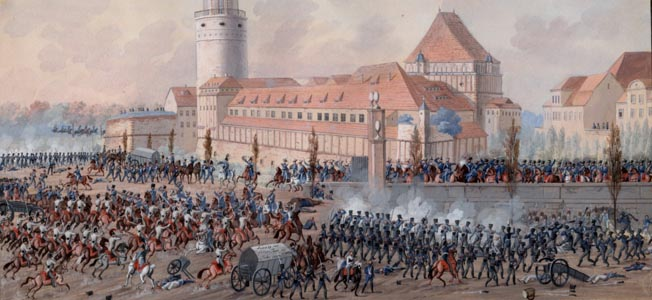 An eyewitness account of the Battle of Leipzig by Colonel Saint-Chamans and others.