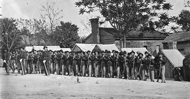 McClellan's army consisted of Midwestern troops, such as Colonel Robert H. Milroy's 9th Indiana Infantry Regiment.