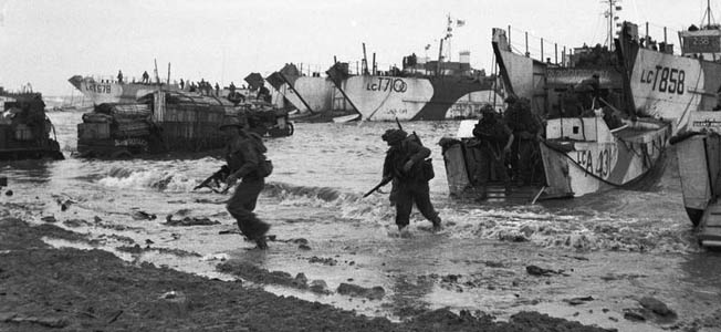 On H-Hour, D-Day (June 6, 1944), Allied forces landed on the coast of Normandy in France. It was the most massive naval operation in human history.