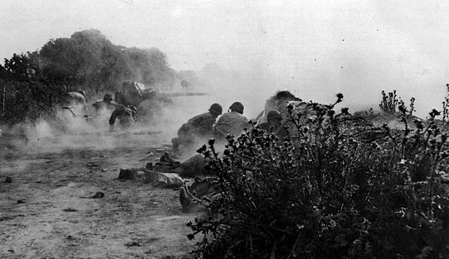 American antitank gunners in action around the much-hated hedgerows on the Cotentin Peninsula.