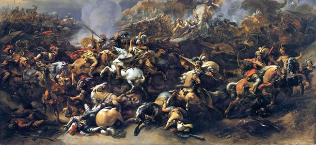 On the banks of the Hydaspes river in 326 BC, Alexander the Great was nearly defeated by the mighty army of Kind Porus with its Corps of Elephants.