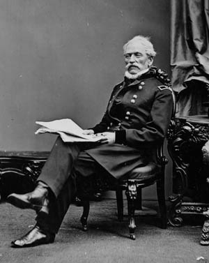 Fifty-nine-year-old Colonel Hannibal Day, below, led the 1st Brigade at Gettysburg.