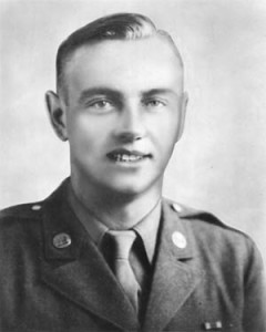 Private First Class Charles DeGlopper defended his comradres' retreat with his Browning Automatic Rifle. His body was later found surrounded by dead Germans he had killed.