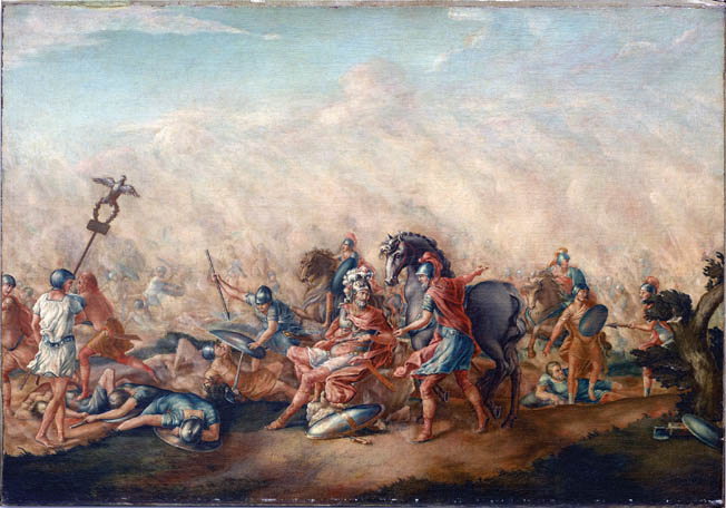 Roman Consul Licius Aemilius Paulus was slain during the Roman army's disastrous defeat at Cannae in 216 BC, but the tenacious Romans refused to give up or even entertain the notion of surrender.