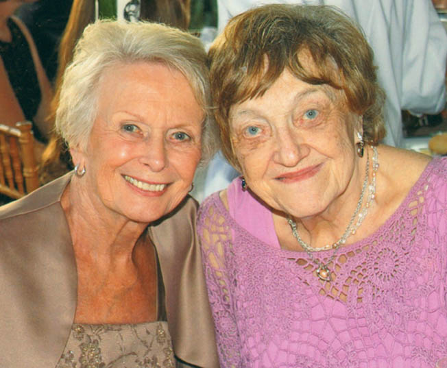 Recent photo of Dorothy (left) and Eleanor Lobes. Born in America and visiting Hamburg when war broke out, they endured numerous horrific air raids.