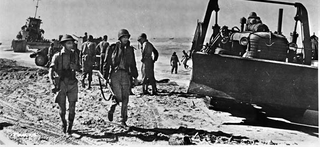 John Steinbeck earned his battle stripes with the Allied invasions of Sicily and Italy in 1943. In England and later in North Africa, Steinbeck had been a step removed from the battlefront. Not so with this invasion.