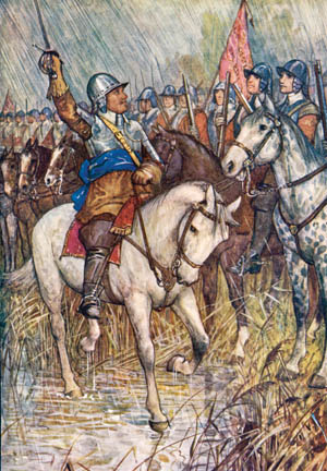"""In 1649, at Drogheda, Cromwell's men stormed hotly into the city. """"No quarter!"""" they cried."""