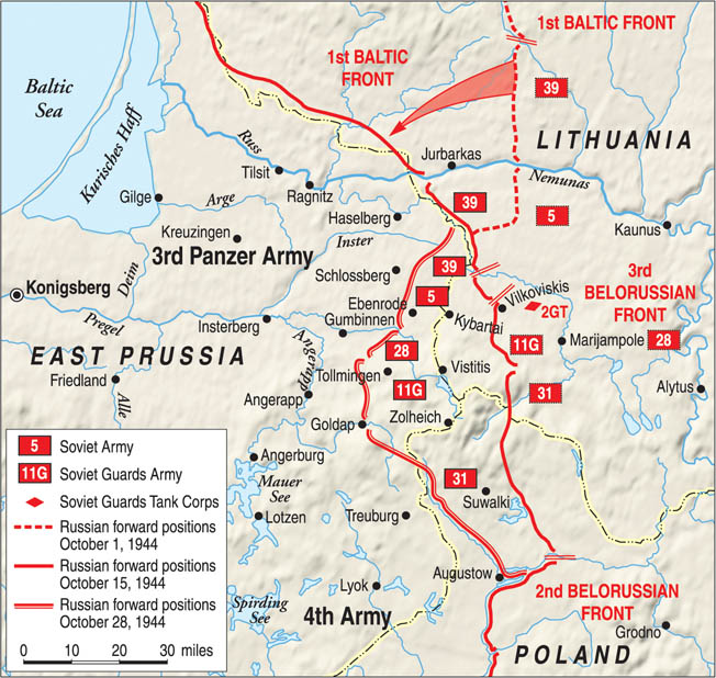 The Red Army offensive into East Prussia in the autumn of 1944 was a harbinger of the death and destruction that were to come for German military personnel and civilians alike.