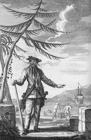 Piracy eventually became a liability for England, and the Royal Navy was dispatched to kill pirates such as Edward Teach, better known as Blackbeard.